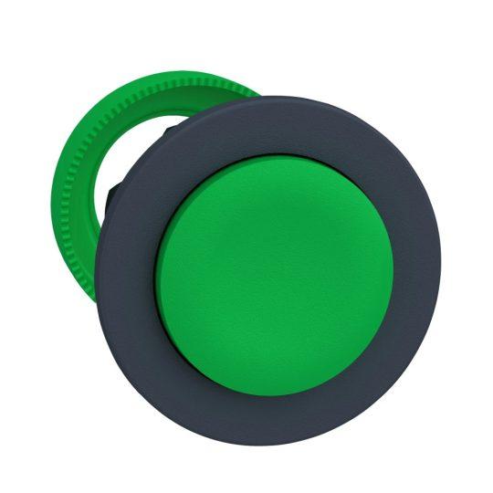 Schneider ZB5FL3 Harmony panelbe süllyesztett műanyag nyomógomb fej, Ø30, kiemelkedő, zöld, visszatérő