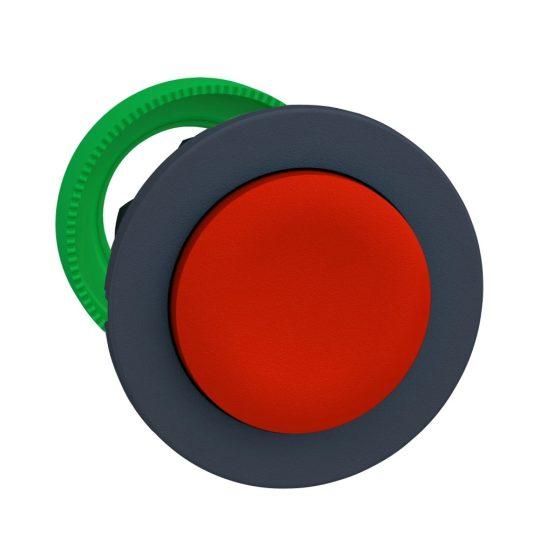 Schneider ZB5FL4 Harmony panelbe süllyesztett műanyag nyomógomb fej, Ø30, kiemelkedő, piros, visszatérő