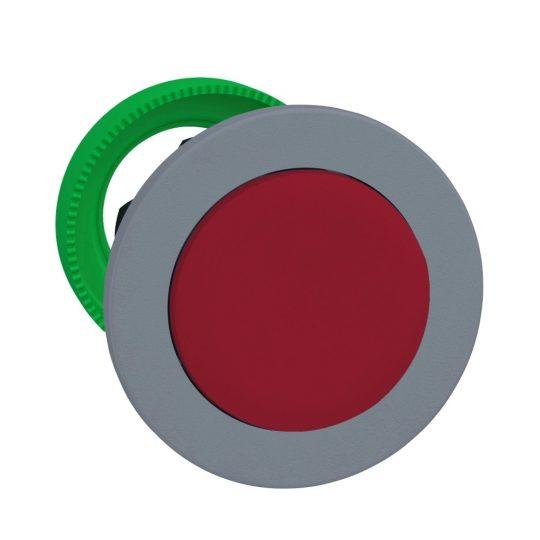 Schneider ZB5FL4C0 Harmony panelbe süllyesztett műanyag nyomógomb fej, Ø30, kiemelkedő, piros, visszatérő, szürke perem
