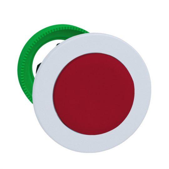 Schneider ZB5FL4C1 Harmony panelbe süllyesztett műanyag nyomógomb fej, Ø30, kiemelkedő, piros, visszatérő, fehér perem