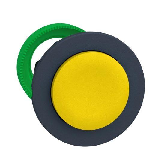 Schneider ZB5FL5 Harmony panelbe süllyesztett műanyag nyomógomb fej, Ø30, kiemelkedő, sárga, visszatérő