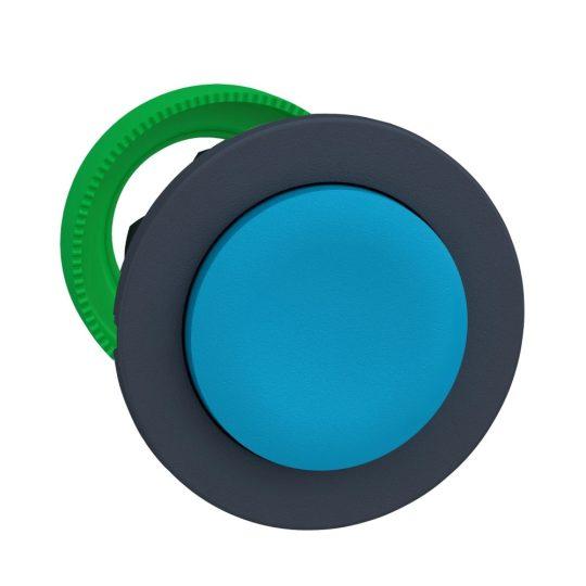 Schneider ZB5FL6 Harmony panelbe süllyesztett műanyag nyomógomb fej, Ø30, kiemelkedő, kék, visszatérő