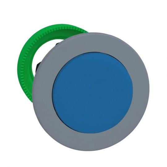 Schneider ZB5FL6C0 Harmony panelbe süllyesztett műanyag nyomógomb fej, Ø30, kiemelkedő, kék, visszatérő, szürke perem