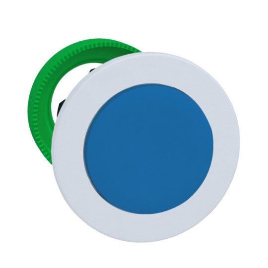 Schneider ZB5FL6C1 Harmony panelbe süllyesztett műanyag nyomógomb fej, Ø30, kiemelkedő, kék, visszatérő, fehér perem