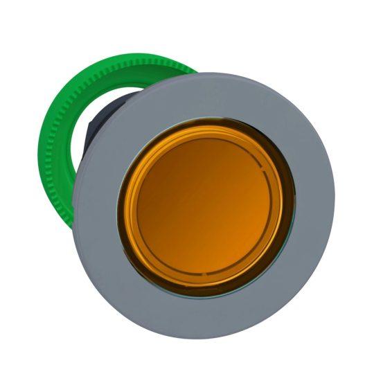 Schneider ZB5FV053C0 Harmony panelbe süllyesztett műanyag LED jelzőlámpa fej, Ø30, narancssárga, szürke perem