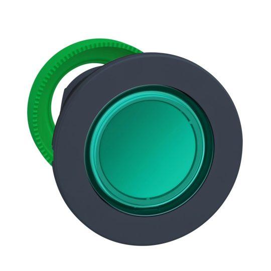 Schneider ZB5FW333 Harmony panelbe süllyesztett műanyag világító nyomógomb fej, Ø30, visszatérő, zöld