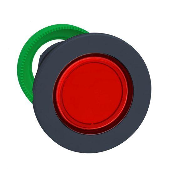Schneider ZB5FW343 Harmony panelbe süllyesztett műanyag világító nyomógomb fej, Ø30, visszatérő, piros