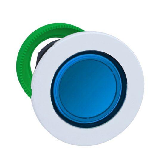 Schneider ZB5FW363C1 Harmony panelbe süllyesztett műanyag világító nyomógomb fej, Ø30, visszatérő, kék, fehér perem