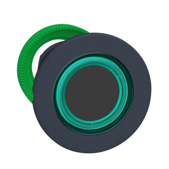 Schneider ZB5FW933 Harmony panelbe süllyesztett műanyag világító nyomógomb fej, Ø30, visszatérő, zöld, világító perem