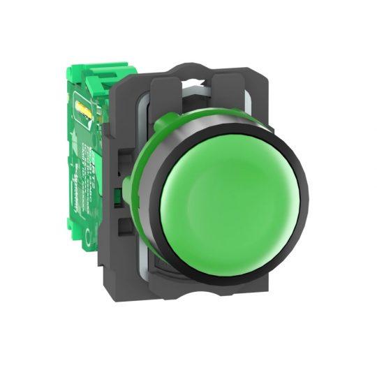 Schneider ZB5RTA3 Harmony vezeték nélküli komplett műanyag nyomógomb, Ø22, vevő nélkül, zöld