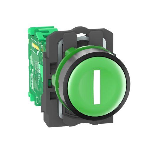 """Schneider ZB5RTA331 Harmony vezeték nélküli komplett műanyag nyomógomb, Ø22, vevő nélkül, zöld, """"I"""""""