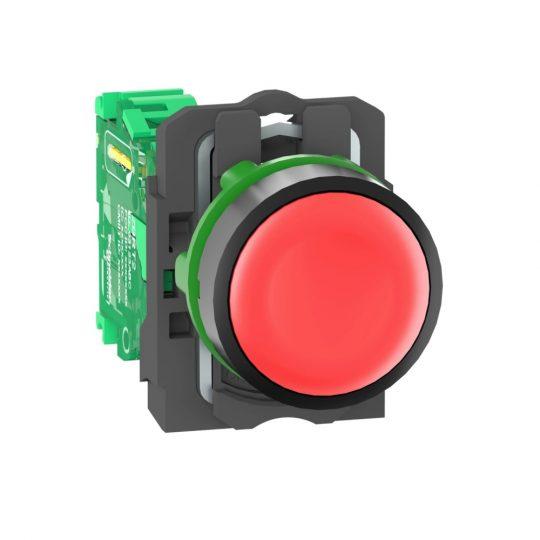 Schneider ZB5RTA4 Harmony vezeték nélküli komplett műanyag nyomógomb, Ø22, vevő nélkül, piros