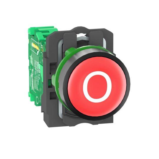"""Schneider ZB5RTA432 Harmony vezeték nélküli komplett műanyag nyomógomb, Ø22, vevő nélkül, piros, """"O"""""""