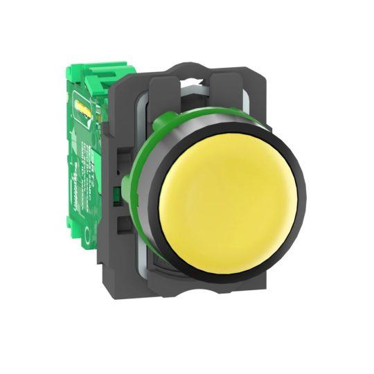 Schneider ZB5RTA5 Harmony vezeték nélküli komplett műanyag nyomógomb, Ø22, vevő nélkül, sárga