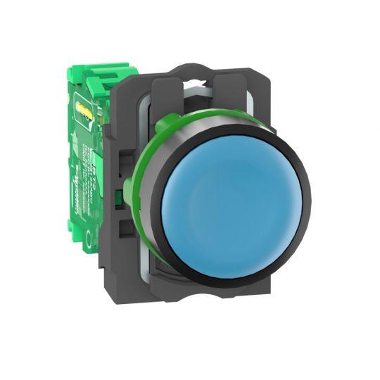 Schneider ZB5RTA6 Harmony vezeték nélküli komplett műanyag nyomógomb, Ø22, vevő nélkül, kék