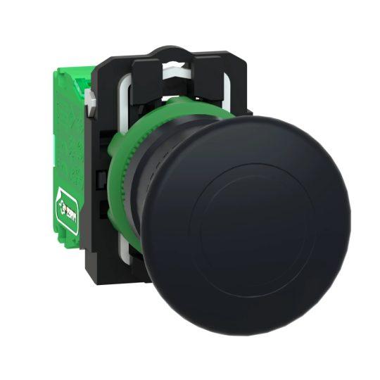 Schneider ZB5RTC2 Harmony vezeték nélküli komplett műanyag nyomógomb, Ø22, vevő nélkül, Ø40 gombafejű, fekete