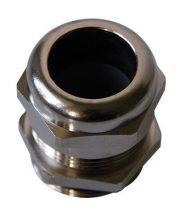 Fém nikkelezett tömszelence M12 IP68 befogható kábelek külső átmérője 2,5 - 6,5 mm (SIB C5212000)