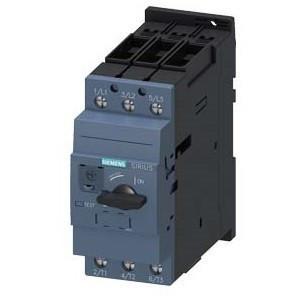 motorvédő kapcsoló 14-20A, transzformátor védelemhez, S2 méret, 10. osztály, csavaros csatlakozás, forgókapcsolós vezerlés, Sirius (Siemens 3RV2431-4BA10)