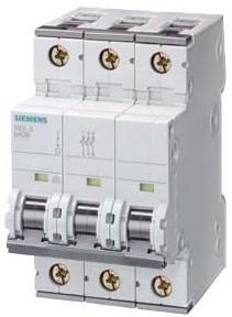 Siemens 5SY7350-6 kismegszakító 3P, 50A, B karakterisztika, 15 kA (Siemens 5SY73506)