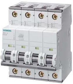 Siemens 5SY7432-6 kismegszakító 4P, 32A, B karakterisztika, 15 kA (Siemens 5SY74326)
