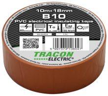 Tracon, B10, szigetelőszalag, barna, 10 m x 18 mm, PVC,  0-90°C Tracon (B10)