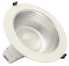 LED mélysugárzó IP54-es, vízálló, változtatható színhőmérséklettel 25 W teljesítménnyel, 3000/4000/5700 K, 2280/2650/1450 lm fényerővel, D=228 mm (Tracon DLTRIO25W)