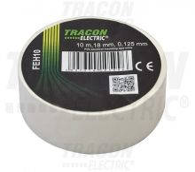 Tracon, FEH10, szigetelőszalag, fehér, 10 m x 18 mm, PVC,  0-90°C Tracon (FEH10)