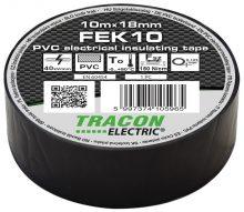 Tracon, FEK10, szigetelőszalag, fekete, 10 m x 18 mm, PVC,  0-90°C Tracon (FEK10)