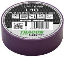 Szigetelőszalag, lila, 10 m x 18 mm, PVC,  0-90°C Tracon (L10)