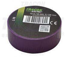 Tracon, L10, szigetelőszalag, lila, 10 m x 18 mm, PVC,  0-90°C Tracon (L10)