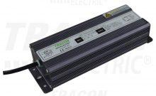 LED meghajtó, vízmentes (IP67), állandó feszültségű, 100W teljesítménnyel, 100-240 V AC / 12 V DC, 8,4A (Tracon LED-CV65-100W)