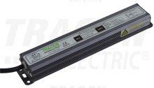LED meghajtó, vízmentes (IP67), állandó feszültségű, 200W teljesítménnyel, 100-240 V AC / 12 V DC, 16A (Tracon LED-CV65-200W)