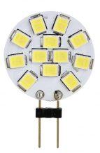 LED-es fényforrás, 2W-os teljesítményű, G4 foglalattal, 2700K-es színhőmérsékletü, SMD LED ( 140 lm ) Tracon ( LG4K2W )