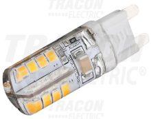 LED-es fényforrás, 3W-os teljesítményű, G9 foglalattal, 2700K-es színhőmérsékletü, SMD LED ( 180 lm ) Tracon ( LG9S3W )