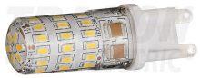 LED-es fényforrás, 4W-os teljesítményű, G9 foglalattal, 2700K-es színhőmérsékletü, SMD LED ( 300 lm ) Tracon ( LG9S4W )