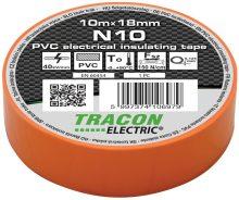 Szigetelőszalag, narancs, 10 m x 18 mm, PVC,  0-90°C Tracon (N10)