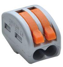 Vezeték összekötő 2 x 0,5-4mm2 -es tömör és sodrott vezetékhez, oldható, TRACON ( OVO2,5-2 )
