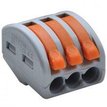 Vezeték összekötő 3 x 0,5-4mm2 -es tömör és sodrott vezetékhez, oldható, TRACON ( OVO2,5-3 )