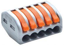Tracon OVO2,5-5, vezeték összekötő 5 x 0,5-4mm2 -es tömör és sodrott vezetékhez, oldható, TRACON ( OVO2,5-5 )