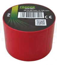 Tracon, P50, szigetelőszalag, piros, 20 m x 50 mm, PVC,  0-90°C Tracon (P50)