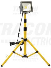 Tracon RSMDA20W LED-es állványos fényvető, 20 W teljesítménnyel, sárga-fekete színben, 4500K színhőmérséklettel, IP65-ös védelemmel, 1400 lm fényerővel