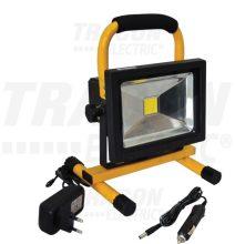 Tracon RSMDACC10W LED-es hordozható, akkumlátoros  fényvető, 10 W teljesítménnyel, sárga-fekete színben, 4500K színhőmérséklettel, IP65-ös védelemmel, 700 lm fényerővel