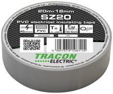 Tracon, SZ20, szigetelőszalag, szürke, 20 m x 18 mm, PVC,  0-90°C Tracon (SZ20)