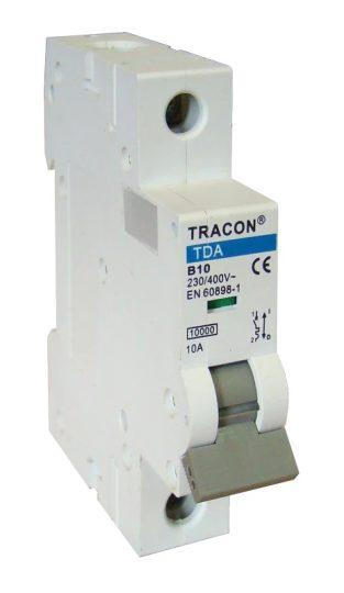 Tracon TDA-1B-63 Kismegszakító 1P, 63A, B karakterisztika, 10kA