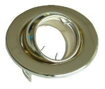 Beépíthető hidegtükrös arany spot lámpatest, MR11-es foglalattal, 60°-ban állítható, (MAX 35W) D=78mm (Tracon TLC-4G)
