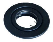 Beépíthető hidegtükrös fekete spot lámpatest, MR16-es foglalattal, 30°-ban állítható, (MAX 50W) D=105mm (Tracon TLC-6B)