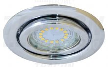 Beépíthető hidegtükrös króm spot lámpatest, MR16-es foglalattal, 30°-ban állítható, (MAX 50W) D=105mm (Tracon TLC-6C)