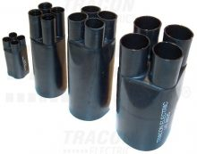 Zsugor végelzáró, 4 eres árnyékolatlan kábelhez, gyantás, 4×4-4×25 mm2 Tracon (VE3512C)