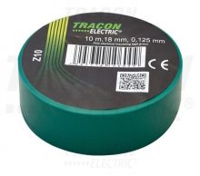Tracon, Z10, szigetelőszalag, zöld, 10 m x 18 mm, PVC,  0-90°C Tracon (Z10)