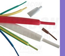 Tracon, ZS064LIL, zsugorcső, vékonyfalú, 6,4/3,2 mm, 2:1 zsugorodás , lila, 1 m-es Tracon (ZS064LIL)